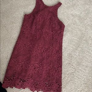 purple/maroon lace going out dress